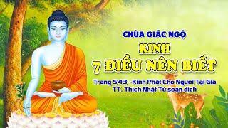 KINH ẨN DỤ VỀ BẢY HẠNG NGƯỜI DƯỚI NƯỚC - tại chùa Giác Ngộ, ngày 03/03/2021