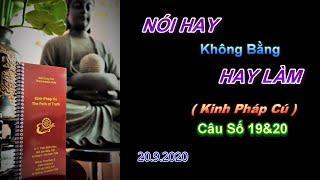 Nói Hay Không Bằng Hay Làm (Kinh PC 19&20) Thầy Thích Pháp Hòa.Tv Trúc Lâm.Ngày 20.9.2020