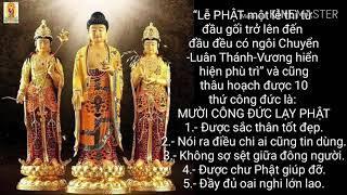 Mười Công Đức Lạy Phật