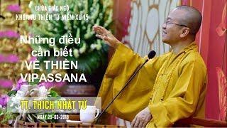Những điều cần biết về thiền Vipassana