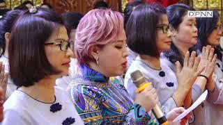 Phật tử Hoa Phước dâng lời tác bạch trong lễ tổng kết Phật sự Quỹ ĐPNN 2019