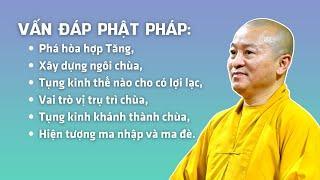 Vấn đáp Phật pháp: Phá hòa hợp Tăng, xây dựng ngôi chùa, tụng kinh thế nào cho có lợi lạc...