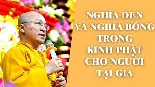 NGHĨA ĐEN và NGHĨA BÓNG trong Kinh Phật Cho Người Tại Gia | TT. Thích Nhật Từ