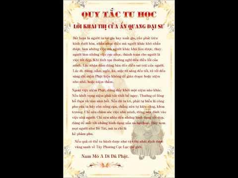 Lời Khai Thị Của Đại Sư Ấn Quang (Bài Đọc)