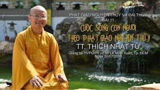 Bài 11: Cuộc sống con người theo Phật giáo nguyên thủy