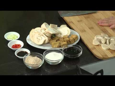 Món chay 180 - Cà bát kho xì dầu