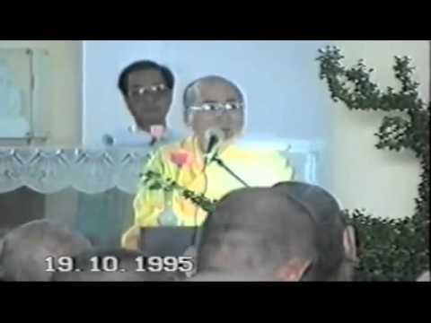 Lễ đặt đá xây dựng trường cao cấp Phật học nay là HVPGVN tại TP HCM 19-10-1995