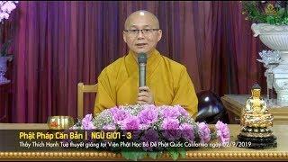 Thích Hạnh Tuệ | Phật Học Phổ Thông - Ngũ Giới 3
