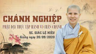 Chánh nghiệp - Phật dạy cách thực tập hành vi chân chánh - SC. Giác Lệ Hiếu