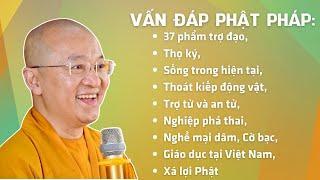 Vấn đáp Phật pháp: 37 phẩm trợ đạo, thọ ký, sống trong hiện tại, thoát kiếp động vật, trợ tử & an tử
