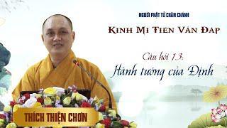 Kinh Mi Tiên: Câu 13. Hành tướng của Định