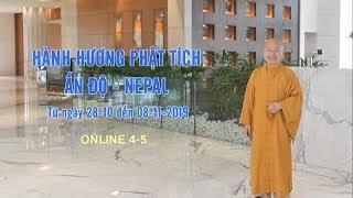 Hành hương Phật tích Ấn Độ-Nepal từ 28-10 đến 08-11-2019 ONLINE 4-5
