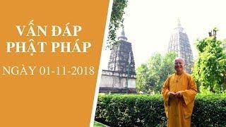 Vấn đáp Phật pháp ngày 01-11-2018 | Thích Nhật Từ