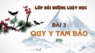 Bài 3: Quy Y Tam Bảo (Phần 2)