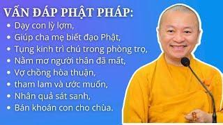 Vấn đáp Phật pháp: Dạy con lỳ lợm, giúp cha mẹ biết đạo Phật, tụng kinh trì chú trong phòng trọ,...