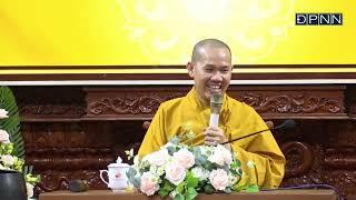 """ĐĐ. Thích Vạn Mãn thuyết giảng trong khóa tu """"Tuổi Trẻ Hướng Phật"""", tại chùa Giác Ngộ,"""