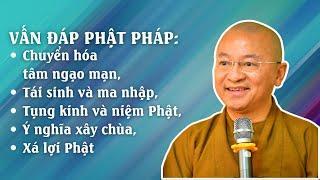 Vấn đáp Phật pháp: Chuyển hóa tâm ngạo mạn, tái sinh và ma nhập, tụng kinh và niệm Phật,...