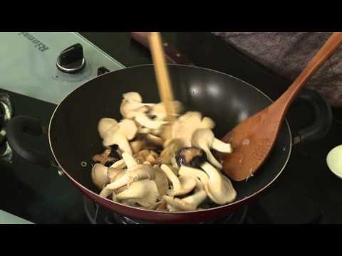 Món chay 187 - Nấm xào tam vị