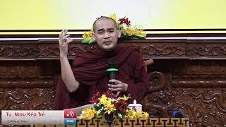 Sư Phước Toàn thuyết giảng trong khóa tu Tuổi Trẻ Hướng Phật