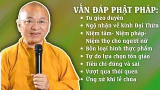 Vấn đáp Phật pháp: Tu gieo duyên, ngộ nhận lời giảng về kinh Đại Thừa, 4 loại hình thực phẩm,...