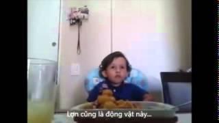 Con Không Ăn Món Mực Này Đâu (Bé Luiz Antonio 3 Tuổi, Lòng Từ Bi) (Rất Hay)