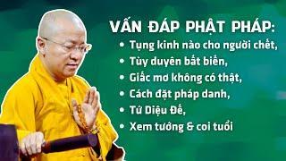 Vấn đáp Phật pháp: Tụng kinh nào cho người chết, tùy duyên bất biến, giấc mơ không có thật,...
