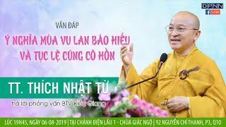 Vấn đáp Phật pháp ngày 06-08-2019 (LIVE) | Thích Nhật Từ