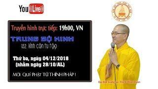 LỚP HỌC ĐẠI TẠNG KINH 04.12.2018- Trung Bộ Kinh - 152. Kinh Căn tu tập