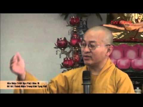 Dẫn Nhập Triết Học Phật Giáo 15 - Thánh Nhân Trong Kinh Tạng Pali (24/04/2013) Thích Nhật Từ giảng