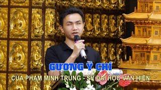 Gương ý chí của SV khiếm thị Phạm Minh Trung trong lễ trao học bổng tại chùa Giác Ngộ 20-12-2020