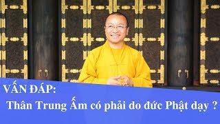 Vấn đáp: Thân Trung Ấm có phải do đức Phật dạy ?   Thích Nhật Từ
